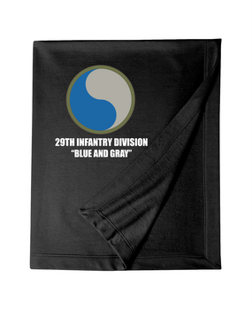 "29th Infantry Division ""Blue and Gray""  Embroidered Dryblend Stadium Blanket"