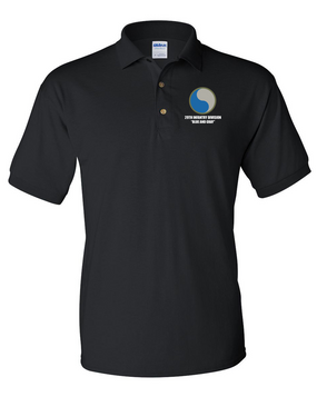 "29th Infantry Division  ""Blue and Gray""  Embroidered Cotton Polo Shirt"