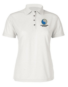 "29th Infantry Division ""Blue and Gray"" Ladies Embroidered Moisture Wick Polo Shirt"