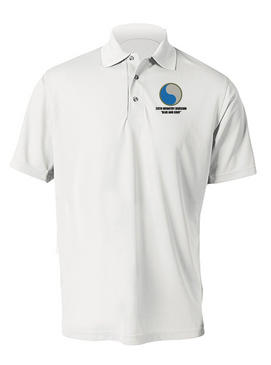 "29th Infantry Division  ""Blue and Gray"" Embroidered Moisture Wick Polo  Shirt"
