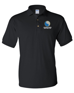 "29th Infantry Division ""Twenty-Nine  Let's Go""  Embroidered Cotton Polo Shirt"