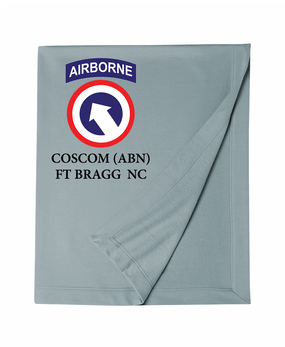 COSCOM (Airborne) Embroidered Dryblend Stadium Blanket