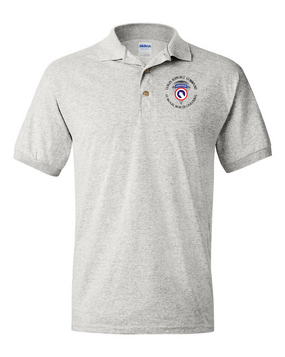 COSCOM (Airborne) (C) Embroidered Cotton Polo Shirt