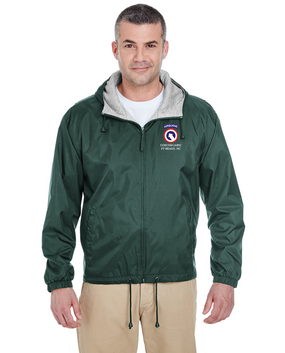 COSCOM (Airborne) Embroidered Fleece-Lined Hooded Jacket