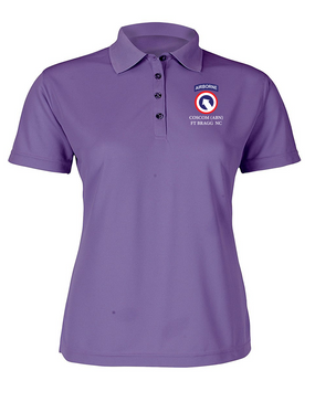 COSCOM (Airborne) Ladies Embroidered Moisture Wick Polo Shirt