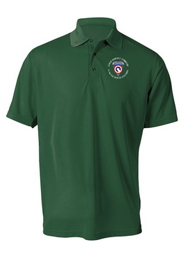 COSCOM (Airborne) (C) Embroidered Moisture Wick Polo  Shirt