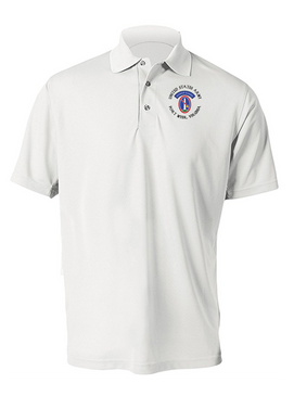 US Army Honor Guard (C) Embroidered Moisture Wick Polo  Shirt