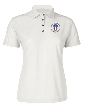 US Army Honor Guard (C) Ladies Embroidered Moisture Wick Polo Shirt