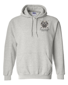 US Army Combat Diver Embroidered Hooded Sweatshirt