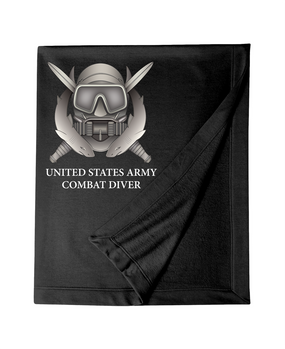US Army Combat Diver Embroidered Dryblend Stadium Blanket