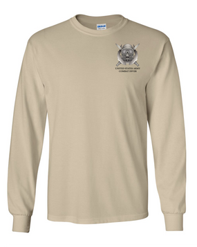 US Army Combat Diver Long-Sleeve Cotton T-Shirt