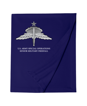 US Army Special Operation HALO-Senior Rated Embroidered Dryblend Stadium Blanket