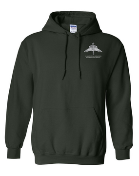 US Army Special Operations HALO-Senior Rated  Embroidered Hooded Sweatshirt
