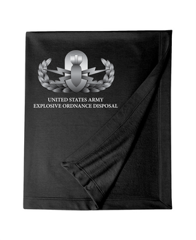 US Army Explosive Ordinance Disposal EOD Embroidered Dryblend Stadium Blanket