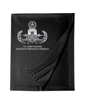 US Army Master Explosive Ordinance Disposal EOD Embroidered Dryblend Stadium Blanket