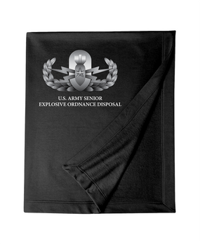 US Army Senior Explosive Ordinance Disposal EOD Embroidered Dryblend Stadium Blanket