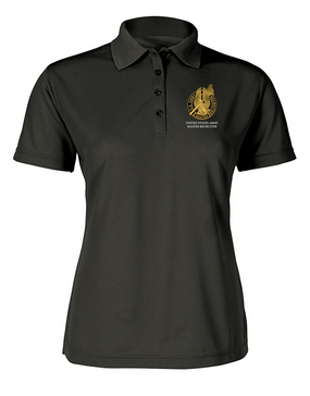 US Army Master Recruiter Ladies Embroidered Moisture Wick Polo Shirt