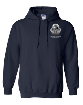 US Army SCUBA  Embroidered Hooded Sweatshirt