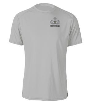 US Army Master Parachutist Badge w/ Combat Jump Cotton Shirt