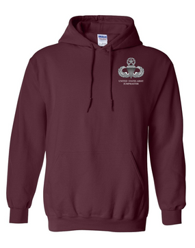 US Army Master Parachutist Badge Embroidered Hooded Sweatshirt