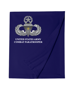 US Army Master Parachutist Badge w/ Combat Jump Embroidered Dryblend Stadium Blanket