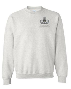 US Army Master Parachutist Badge w/ Combat Jump  Embroidered Sweatshirt