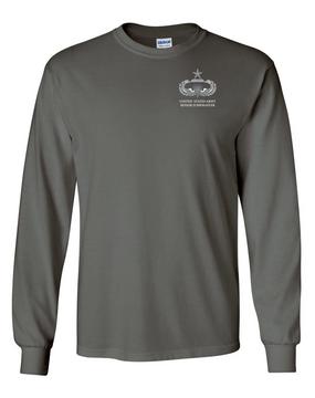 US Army Senior Parachutist Badge Long-Sleeve Cotton T-Shirt