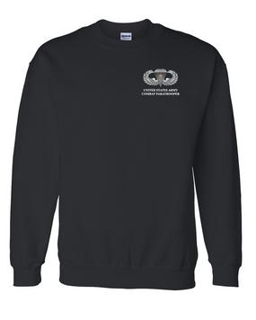 US Army Parachutist Badge w/ Combat Jump  Embroidered Sweatshirt