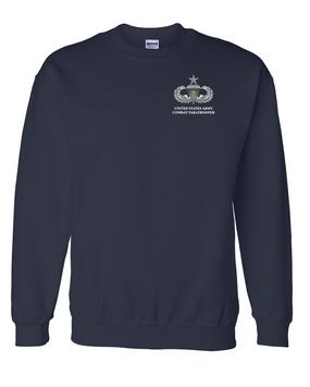 US Army Senior Parachutist Badge w/Combat Jump Embroidered Sweatshirt