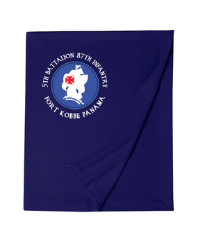 5th Battalion 87th Infantry (C)  Embroidered Dryblend Stadium Blanket