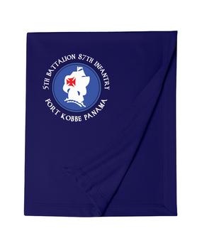 5th Battalion 87th Infantry (C)  Embroidered Dryblend Stadium Blanket