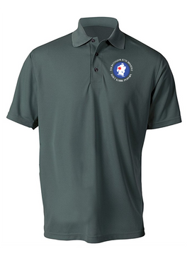 5th Battalion 87th Infantry (C) Embroidered Moisture Wick Polo  Shirt