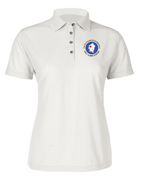 5th Battalion 87th Infantry (C) Ladies Embroidered Moisture Wick Polo Shirt