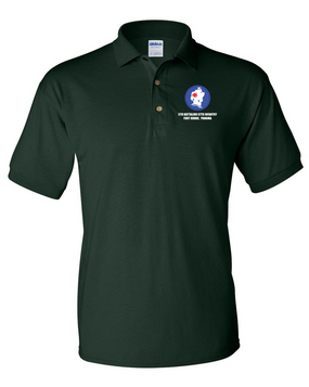 5th Battalion 87th Infantry Embroidered Cotton Polo Shirt