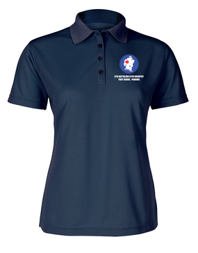 5th Battalion 87th Infantry Ladies Embroidered Moisture Wick Polo Shirt