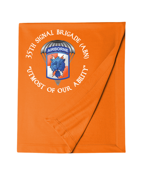 35th Signal Brigade (Airborne) (C) Embroidered Dryblend Stadium Blanket