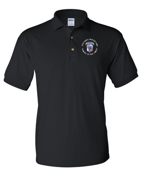 35th Signal Brigade (Airborne) (C) Embroidered Cotton Polo Shirt