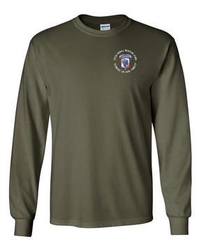 35th Signal Brigade (Airborne) (C) Long-Sleeve Cotton T-Shirt