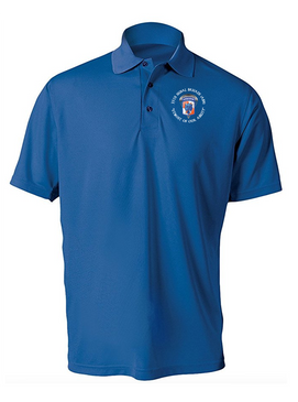 35th Signal Brigade (Airborne) (C) Embroidered Moisture Wick Polo  Shirt