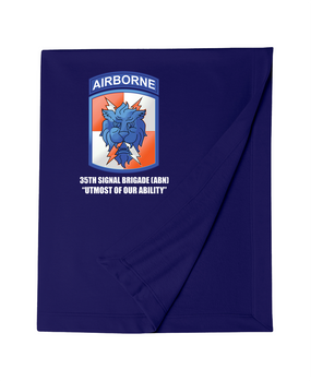 35th Signal Brigade (Airborne)  Embroidered Dryblend Stadium Blanket