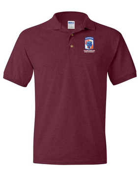35th Signal Brigade (Airborne) Embroidered Cotton Polo Shirt