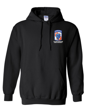 35th Signal Brigade (Airborne) Embroidered Hooded Sweatshirt