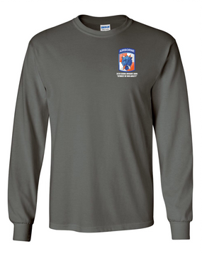35th Signal Brigade (Airborne)  Long-Sleeve Cotton T-Shirt