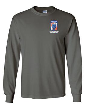 35th Signal Brigade (Airborne)  Long-Sleeve Cotton T-Shirt