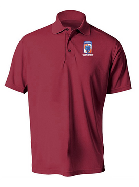 35th Signal Brigade (Airborne) Embroidered Moisture Wick Polo  Shirt