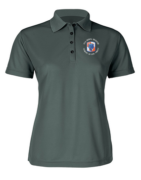 35th Signal Brigade (C) Ladies Embroidered Moisture Wick Polo Shirt