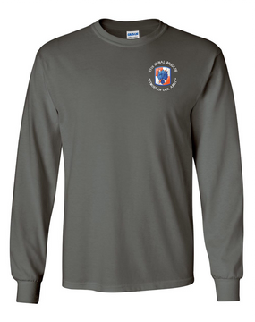 35th Signal Brigade (C) Long-Sleeve Cotton T-Shirt