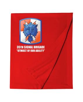 35th Signal Brigade Embroidered Dryblend Stadium Blanket
