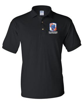 35th Signal Brigade Embroidered Cotton Polo Shirt