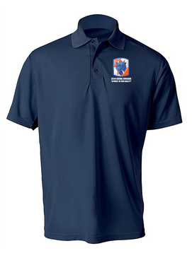 35th Signal Brigade Embroidered Moisture Wick Polo  Shirt